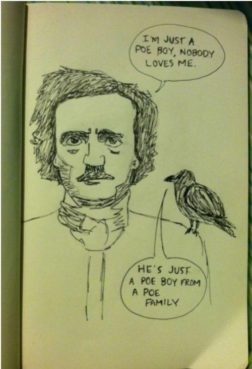 I am the son of a bitch and Edgar Allen Poe