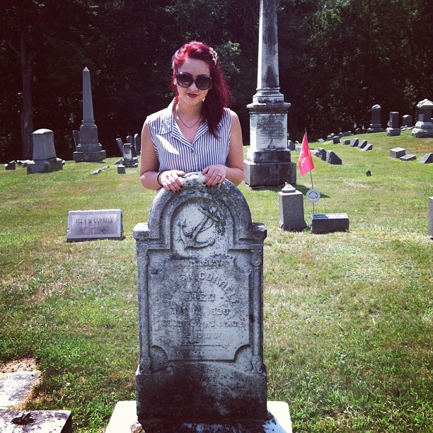 New England graveyards. This sailor died in 1820.  (Taken with Instagram)