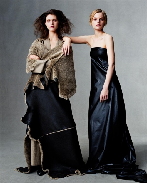 """Independence Day"". Guinevere Van Seenus and Malgosia Bela photographed by Steven Meisel for US Vogue, July 1999"