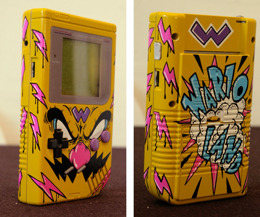 Custom Wario Game Boy By the one and only OSKUNK, of course. It goes great with his custom Wario Munny.