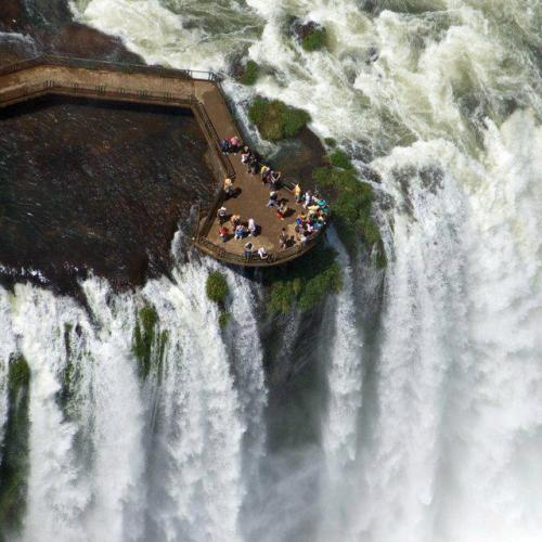 lickystickypickywe:  Iguaçu Falls are waterfalls of the Iguazu River on the border of Brazilian State Paraná and Argentine Province Misiones. The falls divide the river into the upper and lower Iguaçu. The Iguazu River originates near the city of Curitiba. It flows through Brazil for most of its course. Below its confluence with the San Antonio River, the Iguaçu River forms the boundary between Brazil and Argentina.