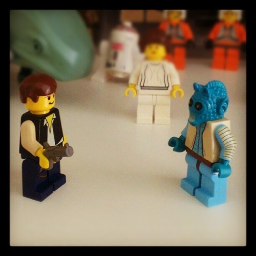 Han looks ready to shoot first #starwars #star_wars #Lego #toys #geekery #personal  (Taken with Instagram)