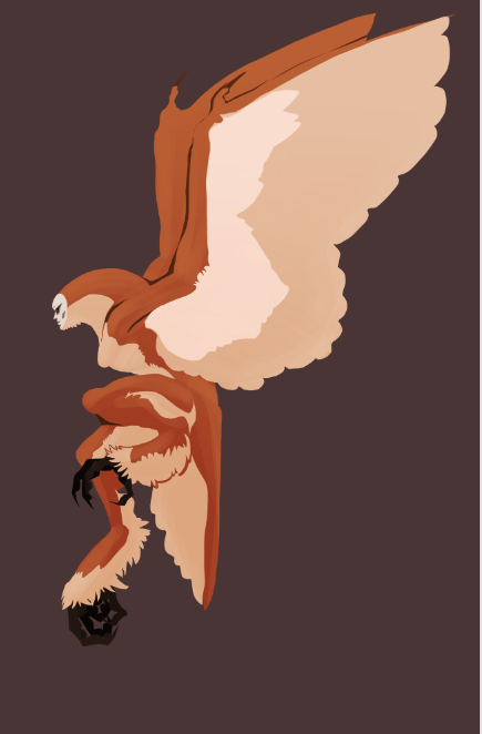 Still working on my harpy. >:[