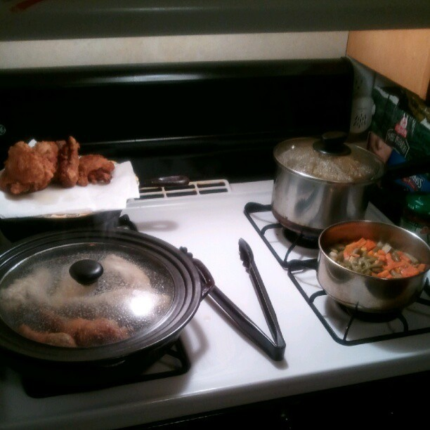 Moms in the kitchen puttin in that work !!! (Taken with Instagram)