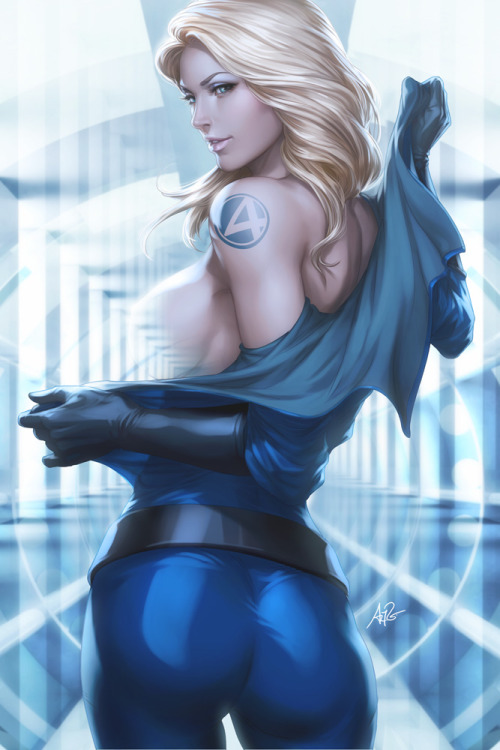 iheartchaos:  Fan art of the day: Sue Storm takes it aaaaall off