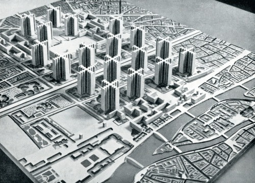 © le corbusier - plan voisin - paris, france - 1922