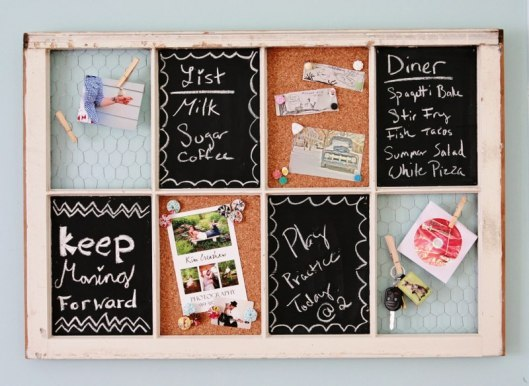 littlecraziness:  (via DIY Organizer from Old Window « My so called crafty life)