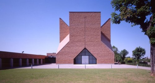 Chiesa Papa Giovanni XXIII by Mario Botta The church was designed as a dedication to Pope Giovanni XIII.