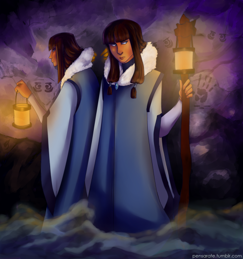 pensarate:  YEAAH. SEASON 2 TWINS. I hope they're spiritual guides for Korra. They're just delving into the depths of the Southern Water Tribe's spiritual caverns.