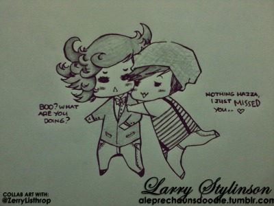 Larry Stylinson. Art done by me, concept and script by @ZerryListhrop. Hoho