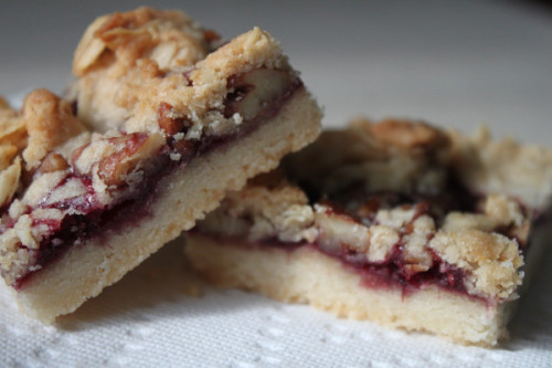 Made…raspberry pecan shortbread bars  While Listening To…Rx Bandits:…And The Battle Begun