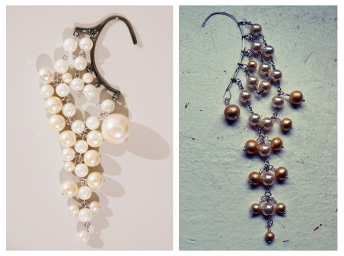 littlecraziness:   (via All The Good Girls Go To Heaven: ☩DIY☩ Pearl Ear Hook/Ear Wrap)