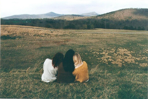 The Black sisters enjoying their last day of summer together. Taken by their mother, who was finally enjoying some peace and quiet. Circa 1975.