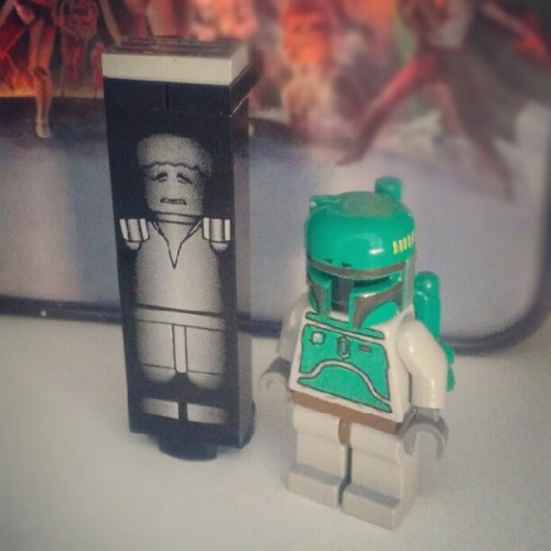 See? No disintegrations #star_wars #starwars #bobafett #boba_fett #Lego #action_figures #toys #personal #geekery  (Taken with Instagram)