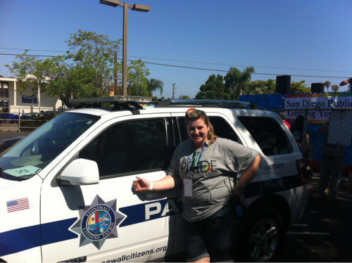 Me with our newly painted Stonewall Citizens' Patrol vehicle… Looks great!  Can't wait to do a patrol in it.