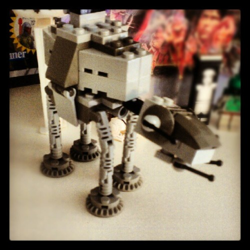 Lego AT AT #Lego #star_wars #starwars #ATAT #toys #personal #geekery  (Taken with Instagram)