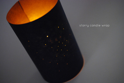 (via Wild Olive: project: starry candle wrap)