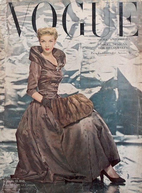 Vogue-September 1948 by Fashion Covers Magazines on Flickr.