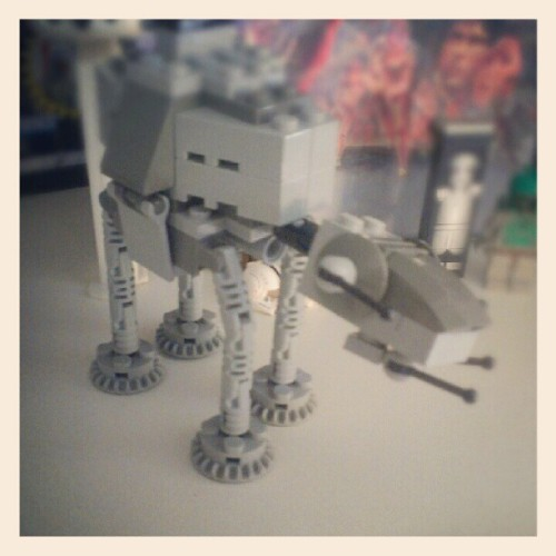 Lil AT AT #star_wars #starwars #Lego #toys #personal #geekery  (Taken with Instagram)