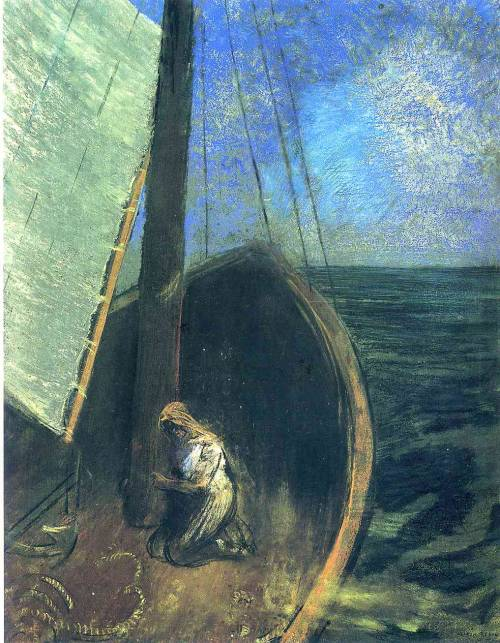odilon redon - the boat (1902)