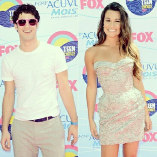 *-* #darrenchris #leamichele #redcarpet #teenchoice2012 #glee #music #awards #tumblr  (Taken with Instagram)