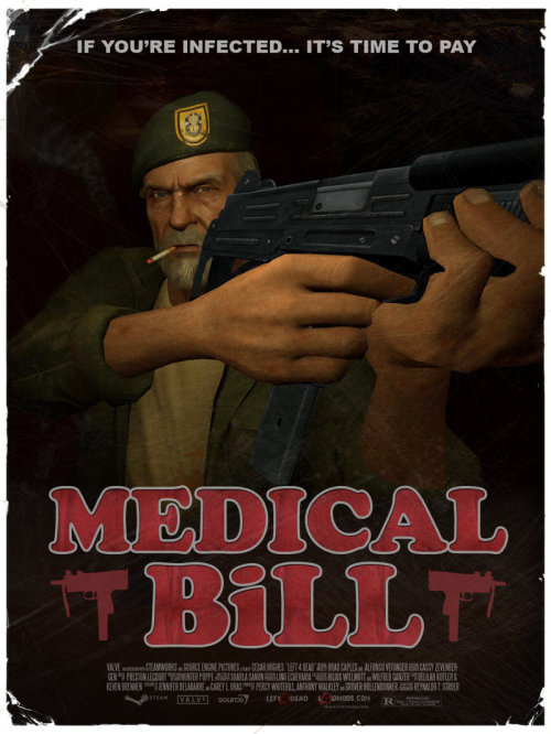Medical Bill - L4D by The Loiterer It's easy to know which character I play in some videogames, just look for the guy with a beard.