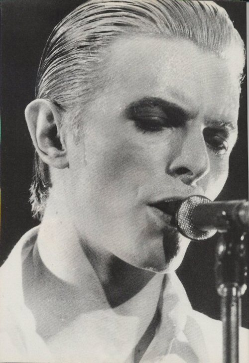 The Thin White Duke on Stage - sweating (must not lick screen…must not lick screen…must not…damn…too late!)