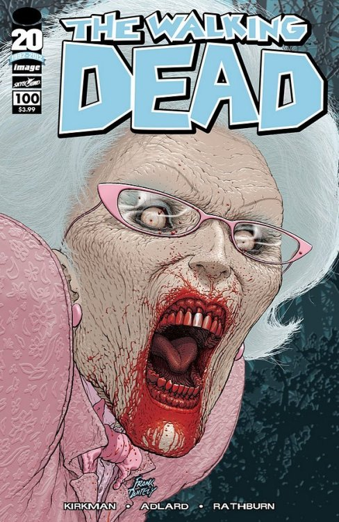 acollectionofcomiccovers:  001 - The Walking Dead #100, Frank Quitely (2012)