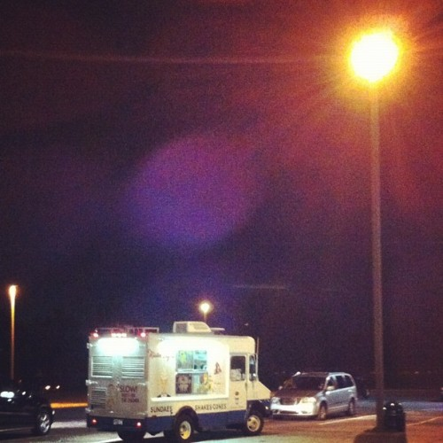 Mister Softee truck in the JFK cell phone lot is genius (Taken with Instagram)