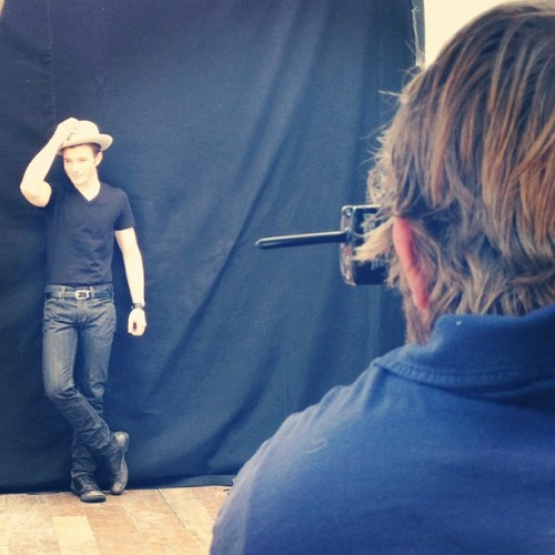 Chris Colfer at the FOX Image campaign! #glee #FOXgallery x