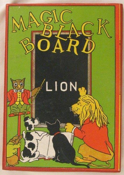 Magic Black Board, a childs game from the 1940's. Gotta love the graphics!