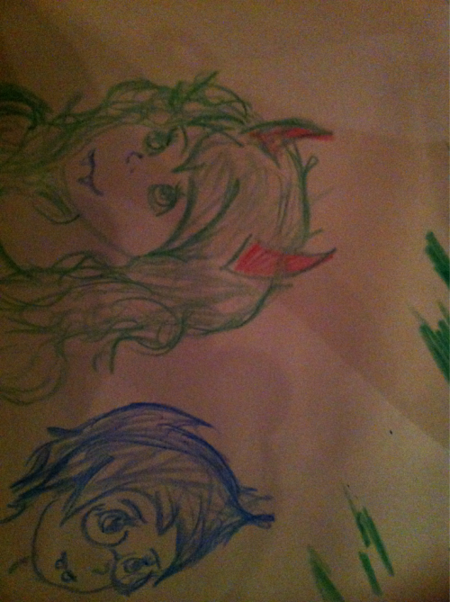 papermoose:  Homestuck Doodles in Olive Garden uwu
