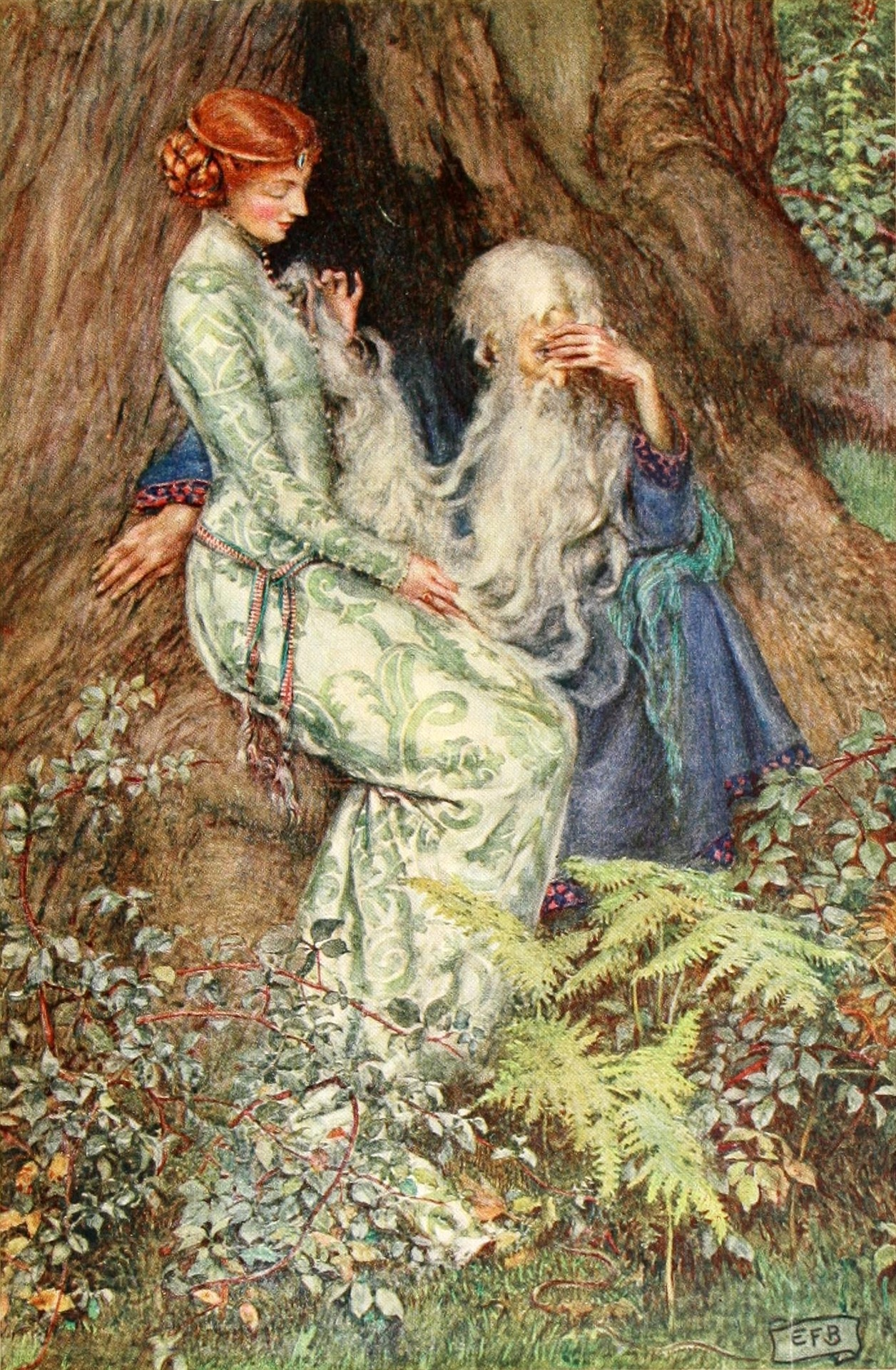 Eleanor Fortescue-Brickdale ~ Idylls of the King by Alfred Lord Tennyson ~ 1913 ~ via Illustration for Vivien O master do you love my tender rhyme?