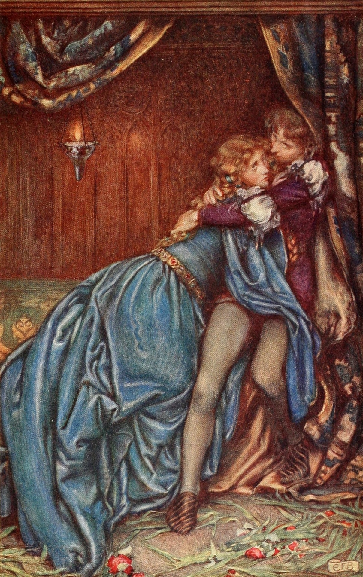 Eleanor Fortescue-Brickdale ~ Idylls of the King by Alfred Lord Tennyson ~ 1913 ~ via Illustration for Guinevere It was their last hour, a madness of farewells.