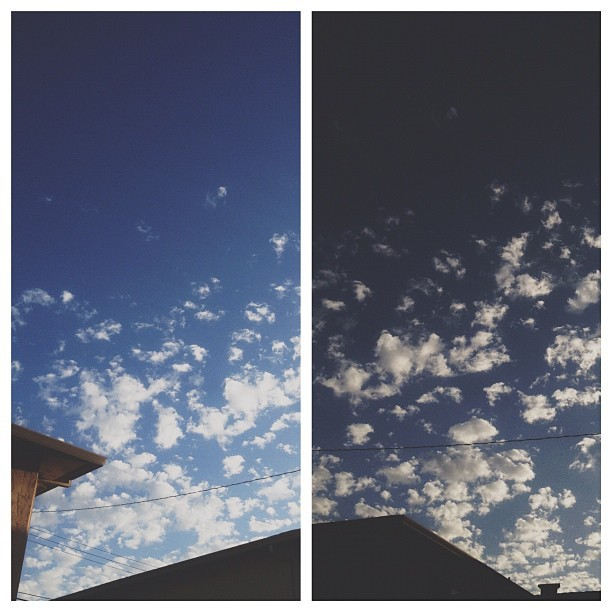 loving the #evening #sky! #vsco #vscocam #clouds #rooftops (Taken with Instagram)