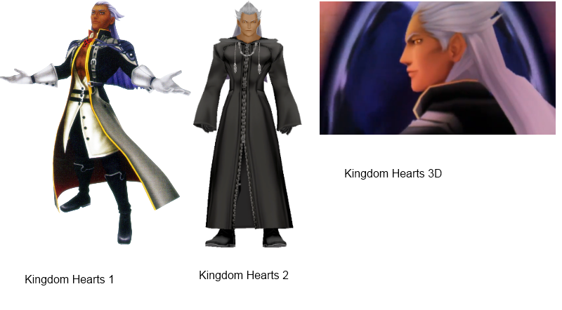 I'm not sure if you've previously covered Ansem (or, rather, Xehanort's Heartless), but damn if he doesn't just keep getting lighter. BRHood: Let me guess; the excuse is that when it's 3D, he has to be 3 shades lighter? DAYUM ANSEM. YOU WANNA LAY OFF THAT BLEACH WHILE YOU FUCKING SHIT UP?