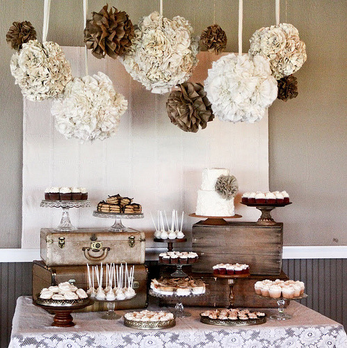 bridalsnob:  {Inspiration} Wedding Dessert Table  What an interesting color scheme