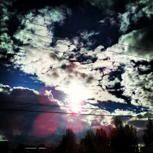 #skies, #Seattle, #clouds, #sun (Taken with Instagram)