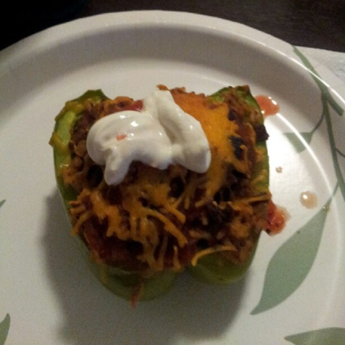 Stuffed bellpepper courtesy of @luvd_blackness !!!!! (Taken with Instagram)