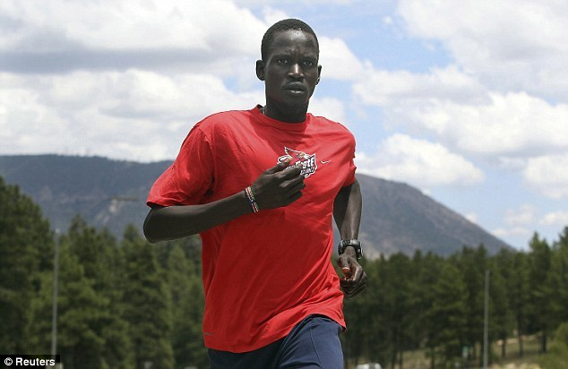 leupagus:  positive-press-daily:  Runner without country to compete at Olympics  Guor Marial ran for his life to escape a Sudanese child labor camp. Now he will get to run at the Olympics. Marial's heartwarming rise from a fearful kid who hid in a cave, fled his war-torn homeland and finally arrived in the United States as a refugee took another incredible turn Saturday. Despite having no passport and officially no country — and at one time very little hope — the 28-year-old marathoner was cleared by the IOC to compete at the London Games under the Olympic flag.  (click-through for full story)  SO MUCH FACE RAINING. I'm cheering for this dude.