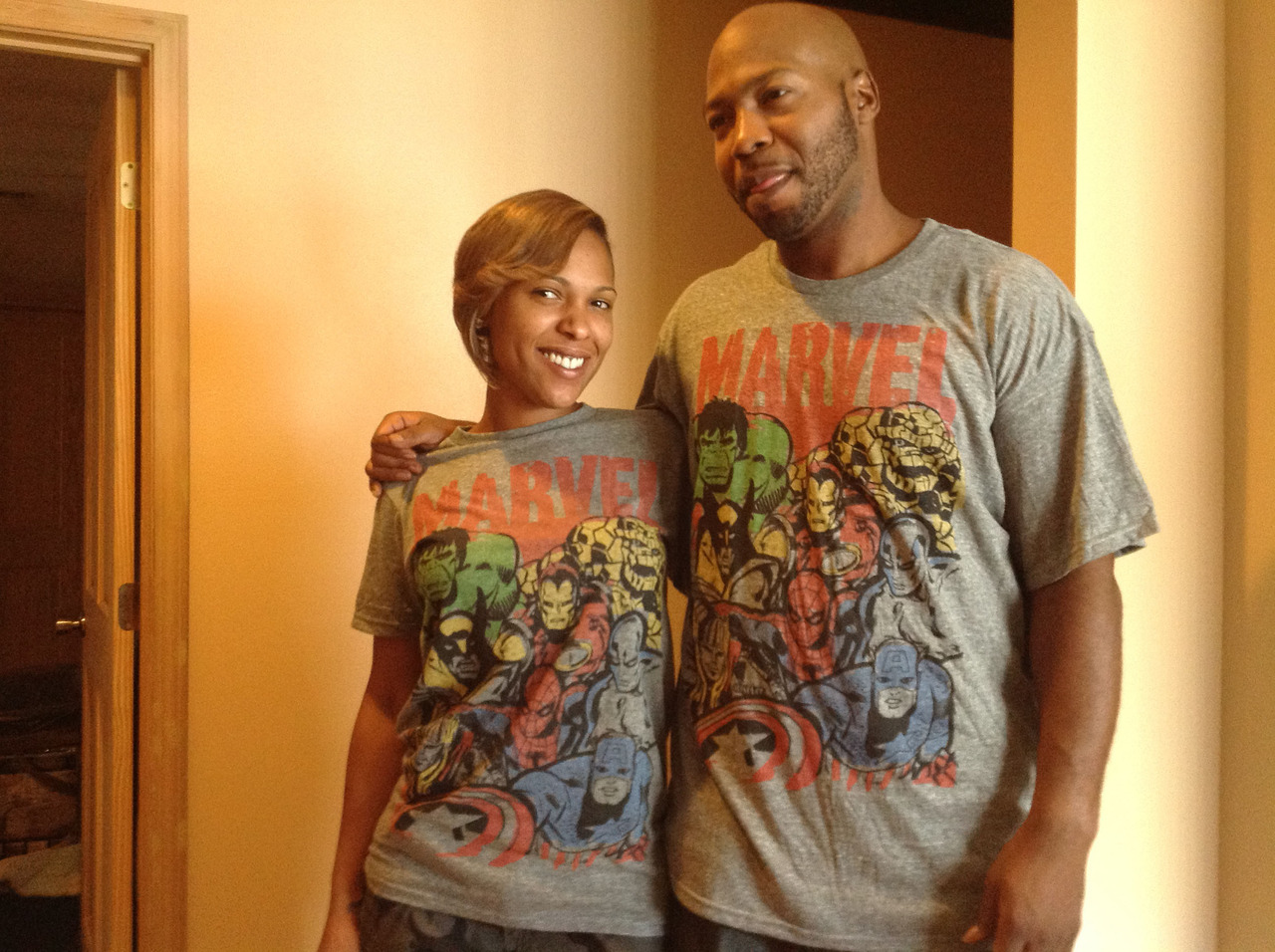 Thanks @cuzzophly & @houstonhairgoddess #marvel tees