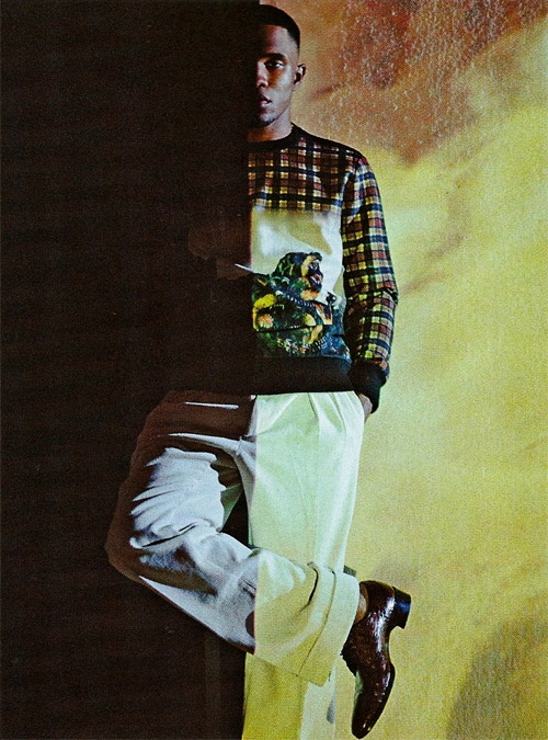 filthavenue:  Frank Ocean in Givenchy L'Uomo Vogue. December 2011