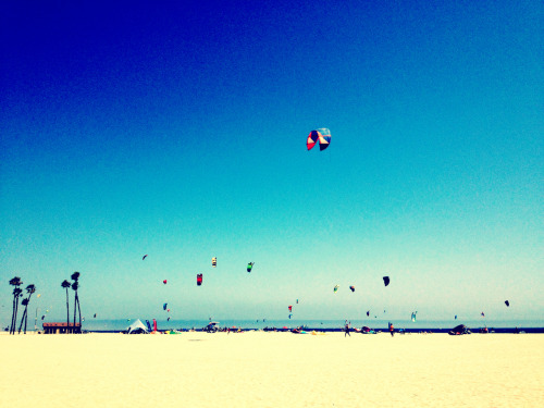 Kite Surfing Practice.