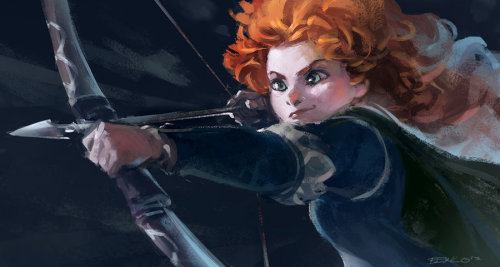 becausesometimesdreamsdocometrue:  Brave-Merida by Benlo.