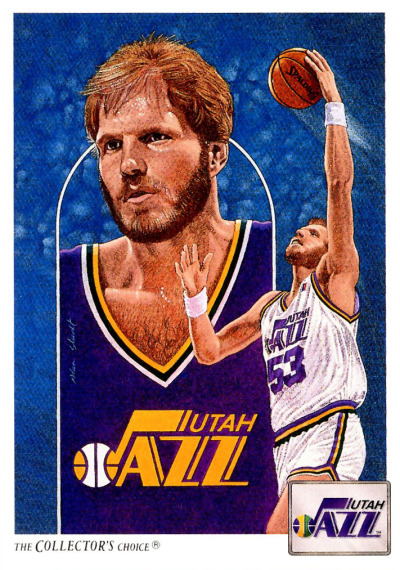 Mark Eaton Collector's Choice Illustration Card (One of the best cards ever, in my opinion.)