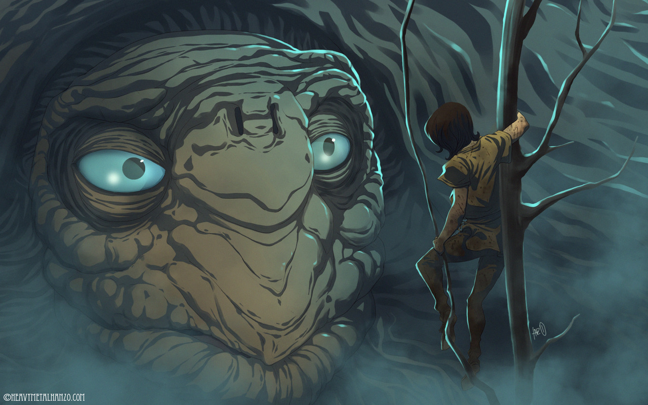 ge-ek:  The Neverending Story - Atreyu finds Morla by HeavyMetalHanzo