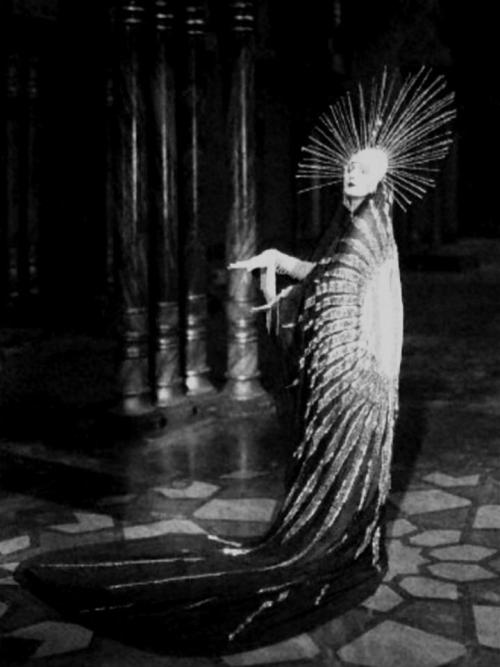"Barbara La Marr as the Queen, ""The Brass Bottle"", 1923, via lettressurlesanglois  The Brass Bottle is a 1923 silent fantasy film comedy produced and directed by Maurice Tourneur and distributed by First National Pictures. This story by novelist F. Anstey was produced as a Broadway play in 1910. A 1914 silent followed. Both silent versions are lost. A colorful 1964 sound version appeared starring Tony Randall [1][2]"