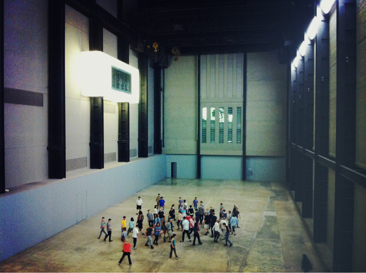 Performance in the Turbine Hall at Tate Modern.
