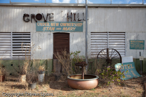 The Historic Grove Hill Pub based in the Northern Territory Top End Goldfields Region. Over 100 years old, the pub currently battles leasehold changes.  After the passing of Mary this year, the pub sits in limbo as Stan awaits with the risk of losing the pub from underneath him. This photo signifies the end of my story.  And the beginning of a new one.