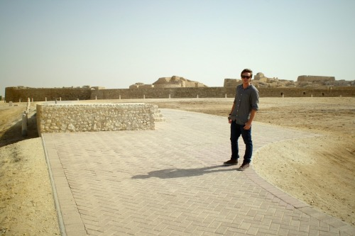 me wandering around some ruins in bahrain